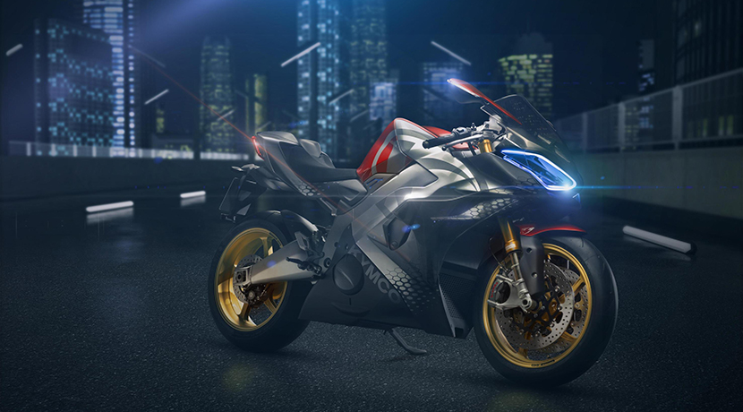 Kymco SuperNEX electric supercar motorcycle